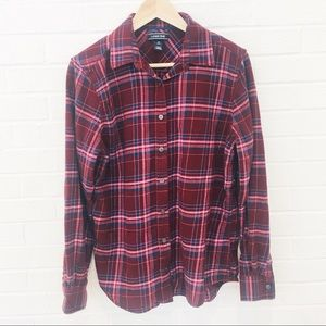 Land's End Long Sleeve Flannel Button Down 10